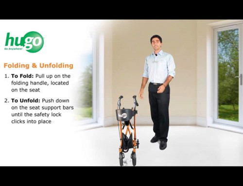 How to Fold and Unfold your Hugo® Sidekick™ Rollator