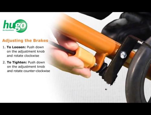 How to adjust the brakes of the Hugo® Sidekick™ Rollator