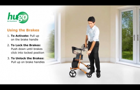 How to use the brakes of your Hugo Sidekick Rollator