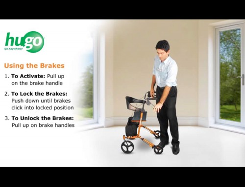 How to use the brakes of your Hugo® Sidekick™ Rollator