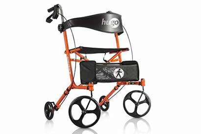 Ambulateur à pliage latéral avec siège, Sidekick™ de Hugo®, couleur tangerine