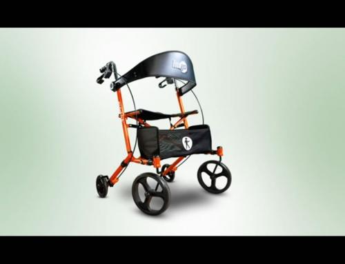 Présentation de l'ambulateur à pliage latéral, Sidekick™ de Hugo®